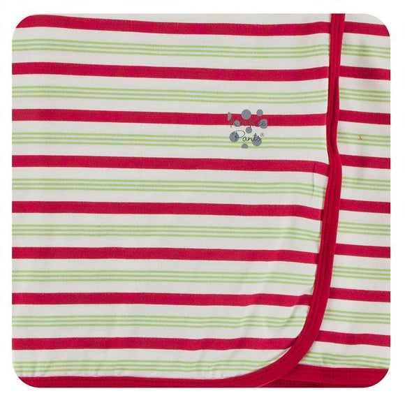 Kickee Pants Swaddling Blanket Candy Cane Stripe - Flying Ryno