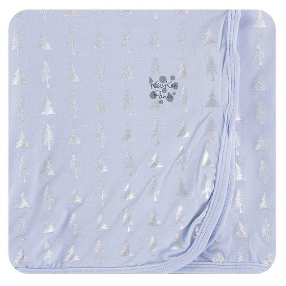 Kickee Pants Swaddling Blanket Frost Silver Trees - Flying Ryno