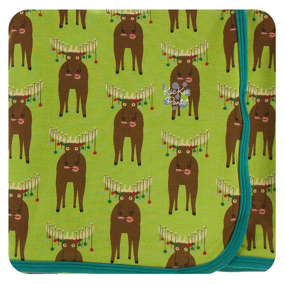 Kickee Pants Swaddling Blanket Meadow Bad Moose - Flying Ryno