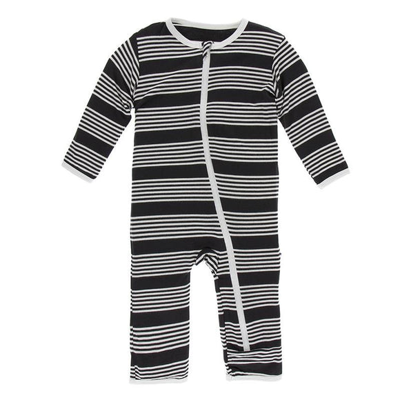 Kickee Pants Zipper Coverall Zebra Agriculture Stripe - Flying Ryno