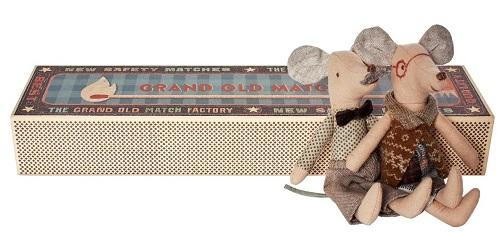 Maileg Grandma and Grandpa Mice in Matchbox - Flying Ryno