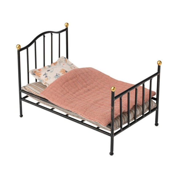 Maileg Vintage Bed in Anthracite - Flying Ryno
