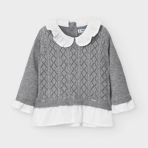 Mayoral Collared Sweater Grey - Flying Ryno
