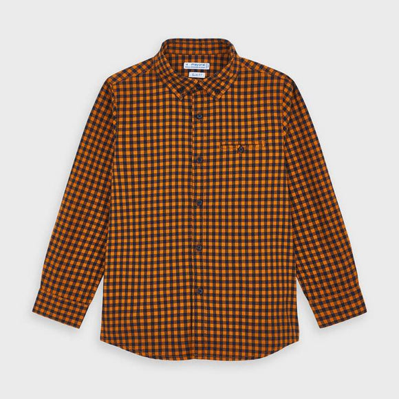 Mayoral Flannel Long Sleeve Shirt - Flying Ryno