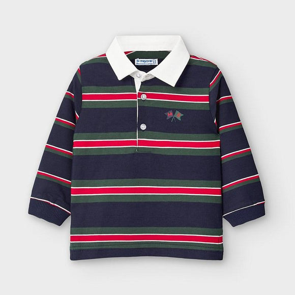 Mayoral Long Sleeve Stripe Polo - Flying Ryno