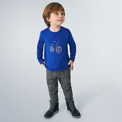 Mayoral Long Sleeve T shirt in Azul Pop - Flying Ryno