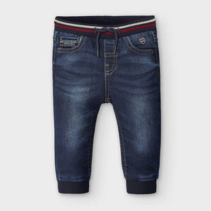 Mayoral Soft Denim Jogger Pants in Dark Wash - Flying Ryno