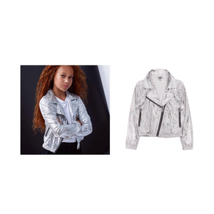 Mia New York Mod Jacket in Silver - Flying Ryno