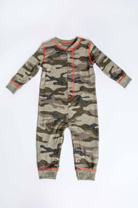 PJ Salvage Infant Romper In Command Camo - Flying Ryno