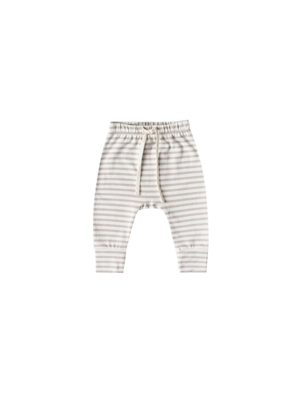 Quincy Mae Drawstring  Brushed Jersey Pants in Fog Stripe - Flying Ryno