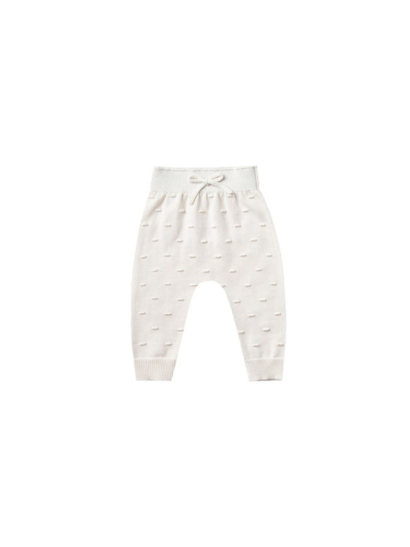Quincy Mae Knit Pant in Ivory - Flying Ryno