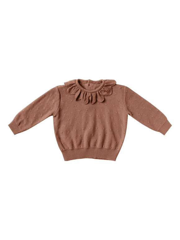 Quincy Mae Petal Knit Sweater in Clay - Flying Ryno