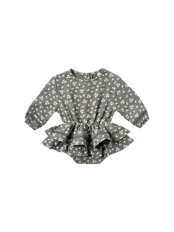 Quincy Mae Rosie Romper in Eucalyptus - Flying Ryno