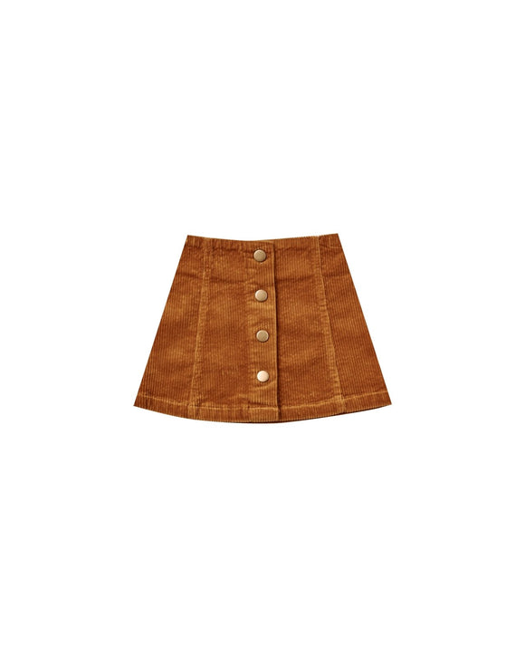 Rylee and Cru Corduroy Mini Skirt Cinnamon - Flying Ryno
