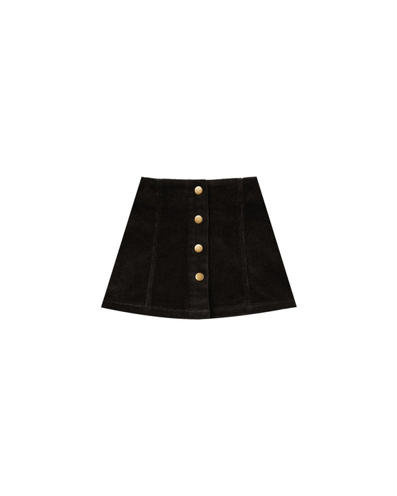 Rylee and Cru Corduroy Mini Skirt Vintage Black - Flying Ryno