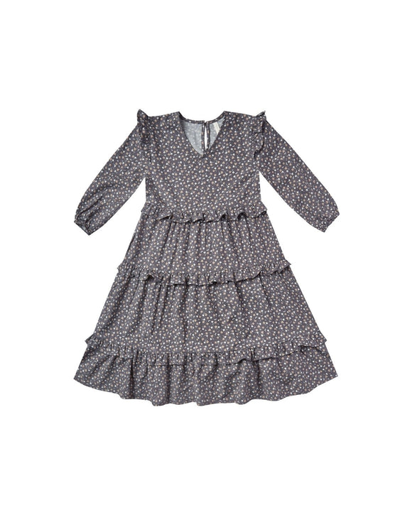 Rylee and Cru Ditsy Mabel Dress Washed Indigo - Flying Ryno