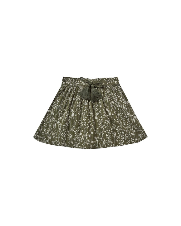 Rylee and Cru Vines Mini Skirt in Forest - Flying Ryno