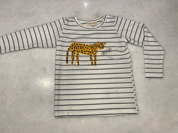 Siaomimi Cheetah Tee Navy Stripe - Flying Ryno