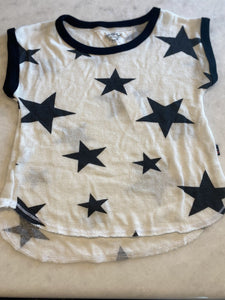 T 2 Love White with Black Stars - Flying Ryno