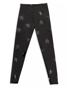 Terez Black Star Foil Printed Legging - Flying Ryno