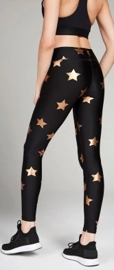 Terez Woman's Rose Gold Star Leggings - Flying Ryno