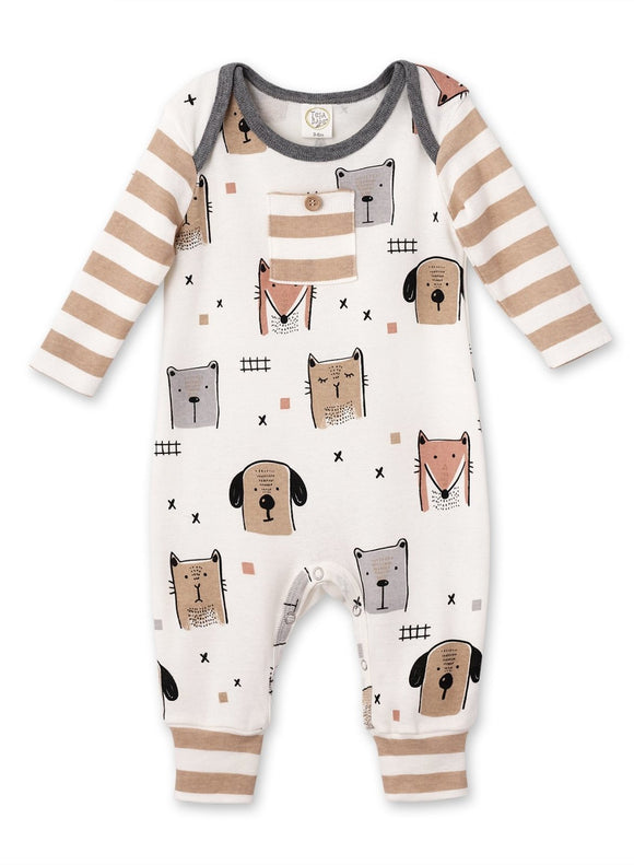 Tesa Babe Animal Party Long Sleeve Romper - Flying Ryno