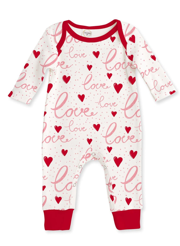 Tesa Babe Love Hearts Long Sleeve Romper - Flying Ryno