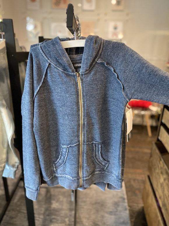 Vintage Havana Deep Burnout Hoodie Little Boys - Flying Ryno