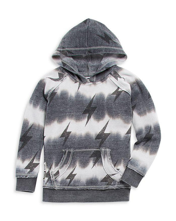 Vintage Havana Lightning Bolt Burnout Hoodie - Flying Ryno