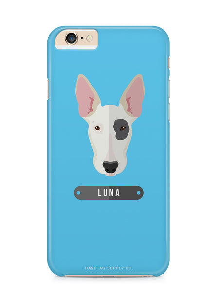 Custom Blue Bull Terrier Dog iPhone 6 Case