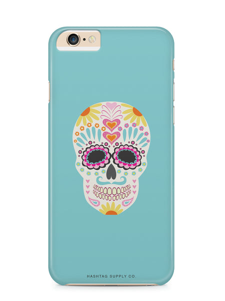 Colorful Floral Sugar Skull Phone Case