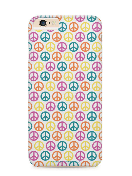 Colorful Peace Signs Pattern Phone Case