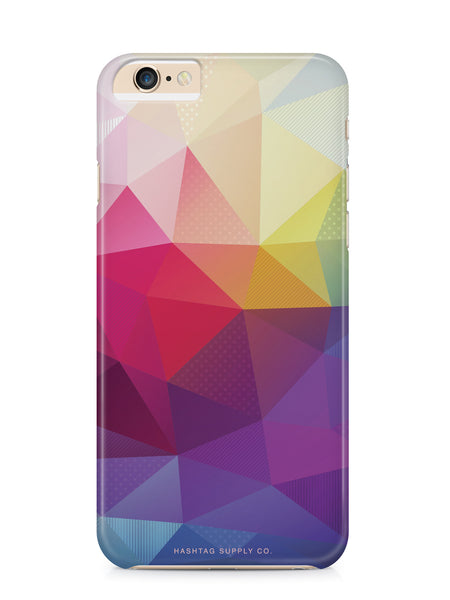 Colorful Abstract Polygons Phone Case