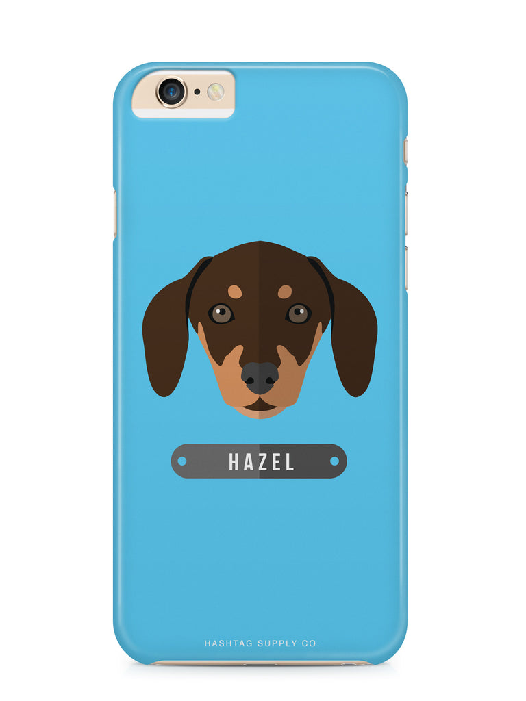 Custom Blue Dachsund Dog iPhone 6 Case