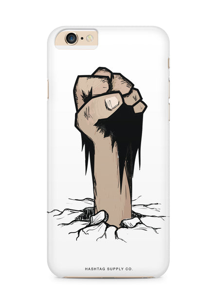 Fist Coming Out Of Ground Phone Case