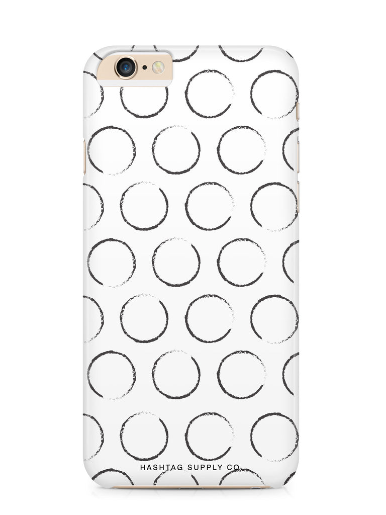Hand Drawn Black Spots Phone Case