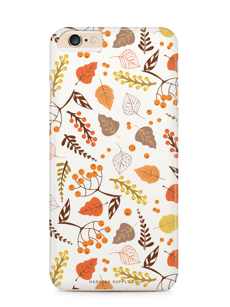Hand Drawn Fall Leaves Pattern Phone Case