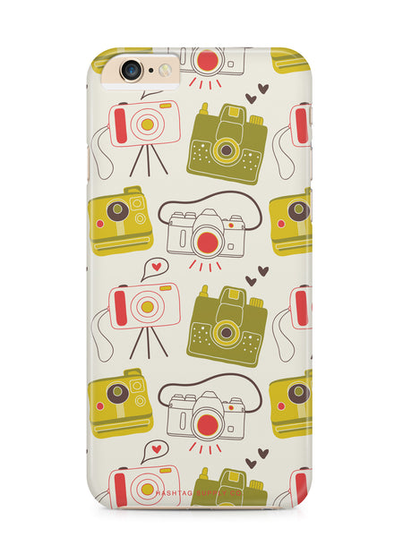 Hand Drawn Retro Camera Pattern 1 Phone Case