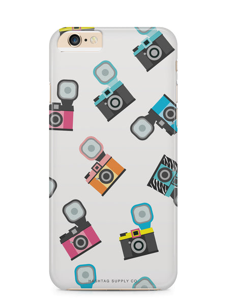 Hand Drawn Retro Camera Pattern 2 Phone Case