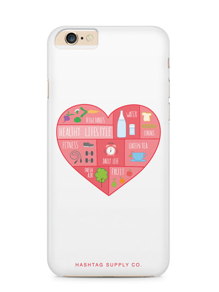 Healthy Living Heart Phone Case