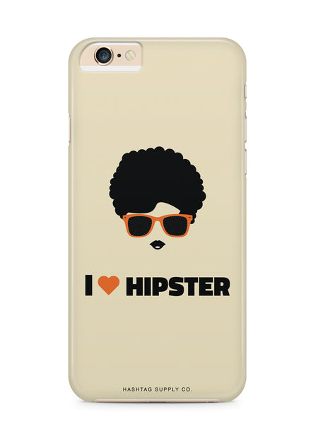 I Love Hipster Girl Phone Case
