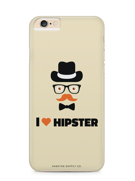 I Love Hipster Guy Phone Case