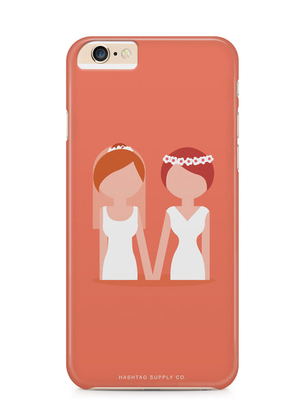 Love is Love Lesbian Couple Wedding Phone Case
