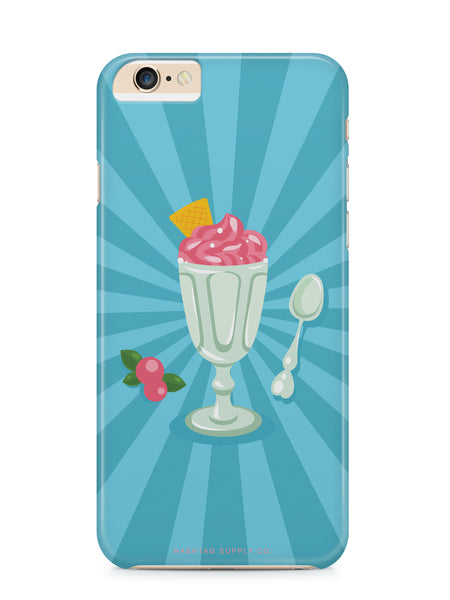 Retro Ice Cream Sundae Phone Case