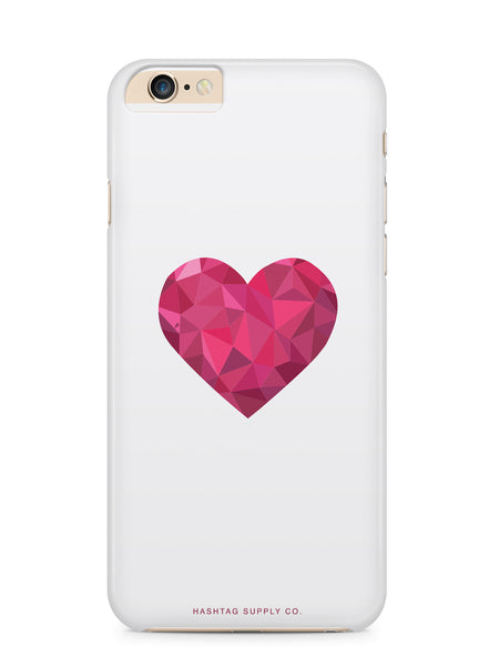 Abstract Triangular Heart Phone Case