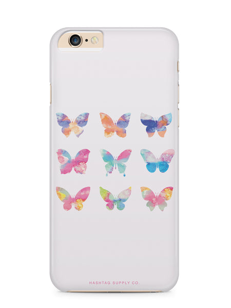 Colorful Watercolor Butterflies Phone Case