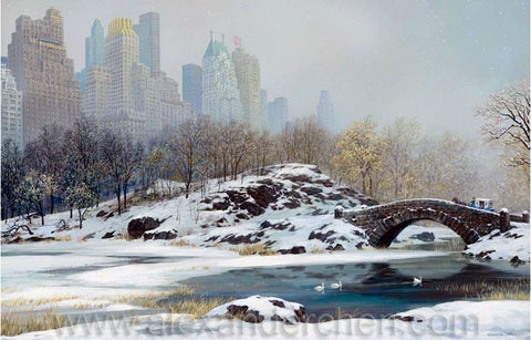 Alexander Chen - Central Park Bridge-Winter