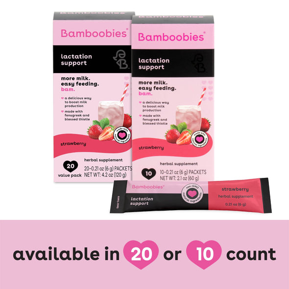 lactation support drink mix (strawberry)