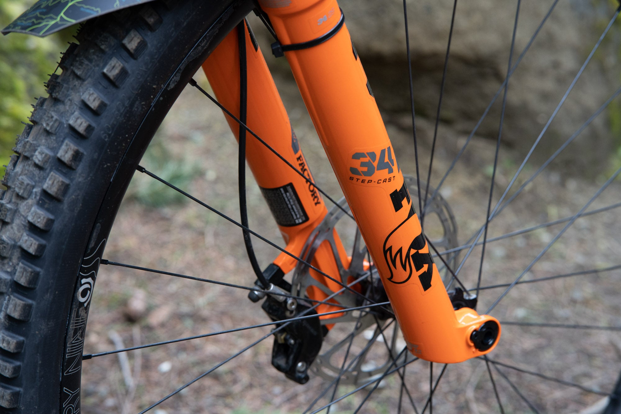 The channels in the back of the fork legs provide added lubrication and air volume.