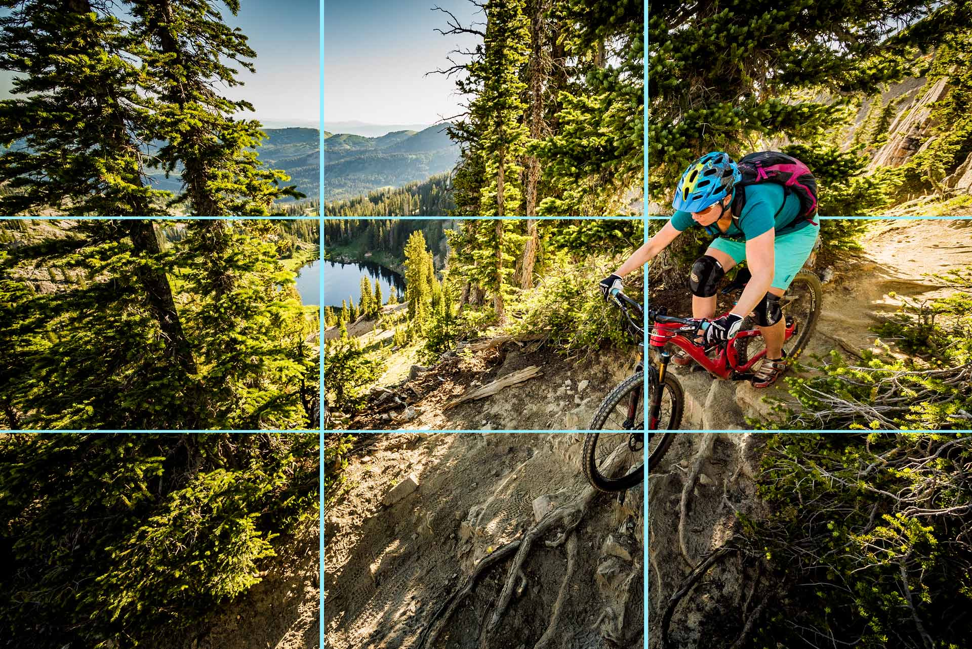 How to take great mountain bike photos - Step three: Learn the basics of composition.